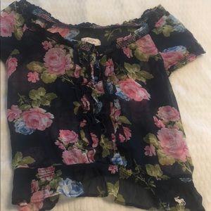 Abercrombie floral blouse